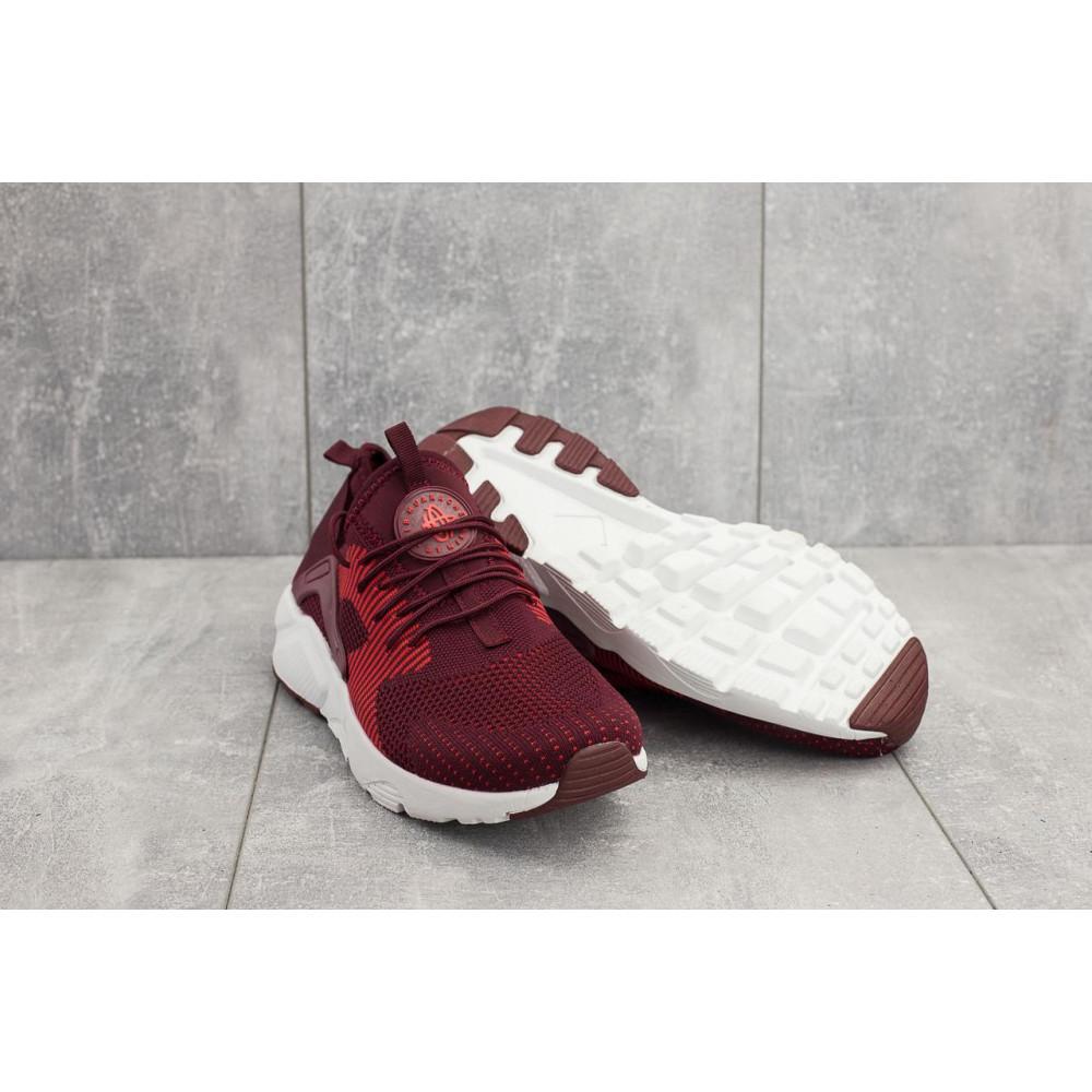 Демисезонные кроссовки мужские   - Мужские кроссовки текстильные весна/осень бордовые Classica A 023 -1 1