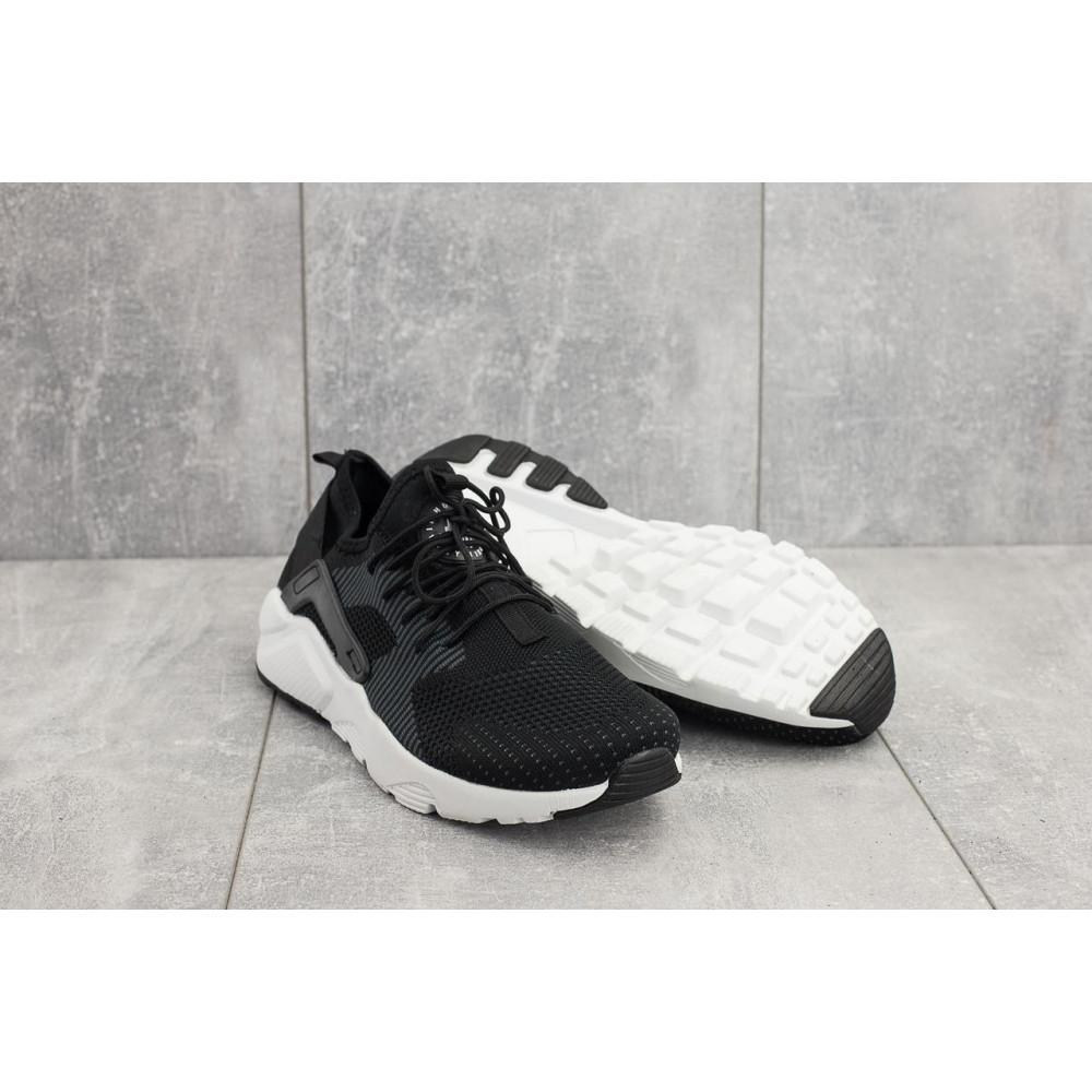 Демисезонные кроссовки мужские   - Мужские кроссовки текстильные весна/осень черные Classica A 023 -3 4