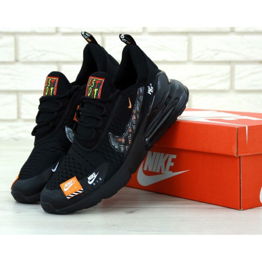 Демисезонные кроссовки мужские   - Мужские кроссовки Air Max 270 Just Do It Black
