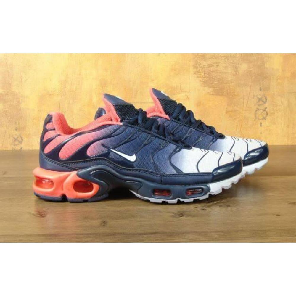 Демисезонные кроссовки мужские   - Мужские кроссовки Nike Air Max Tn Plus Navy Blue Red 8