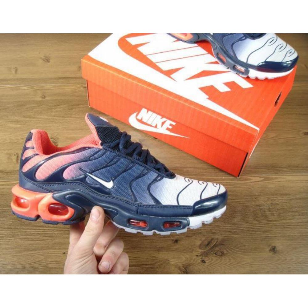 Демисезонные кроссовки мужские   - Мужские кроссовки Nike Air Max Tn Plus Navy Blue Red 6