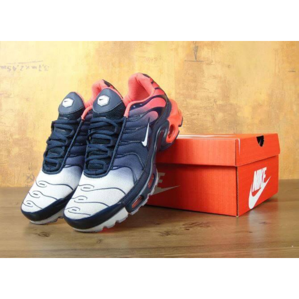 Демисезонные кроссовки мужские   - Мужские кроссовки Nike Air Max Tn Plus Navy Blue Red 4