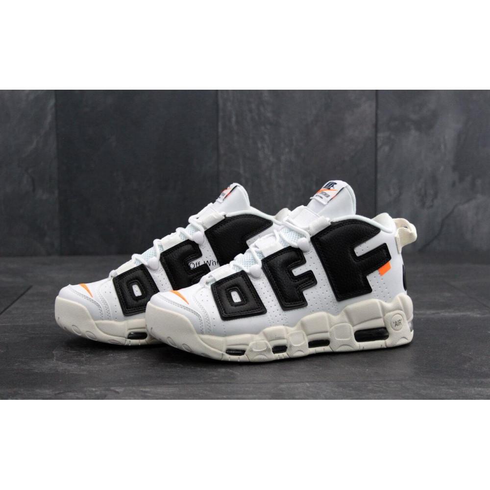 Демисезонные кроссовки мужские   - Мужские кроссовки Air More UpTempo Off White 1
