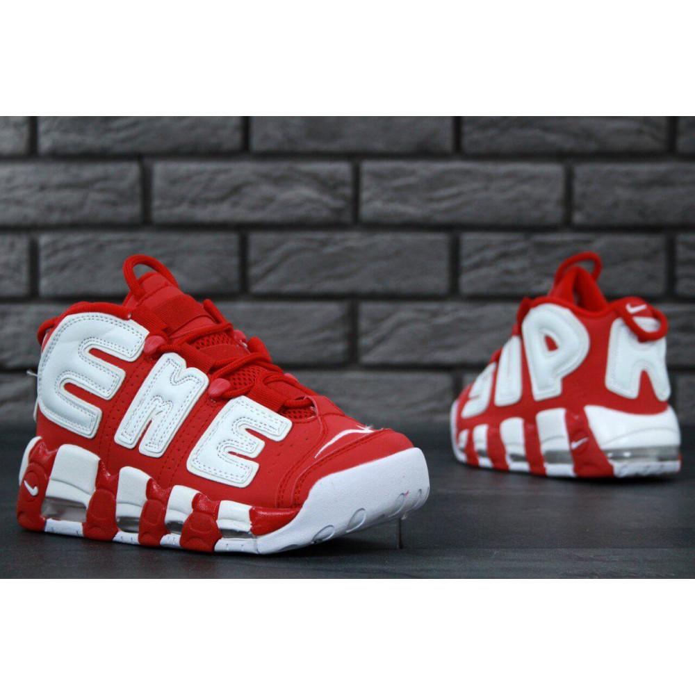 Демисезонные кроссовки мужские   - Мужские кроссовки Air More X Supreme красного цвета 6