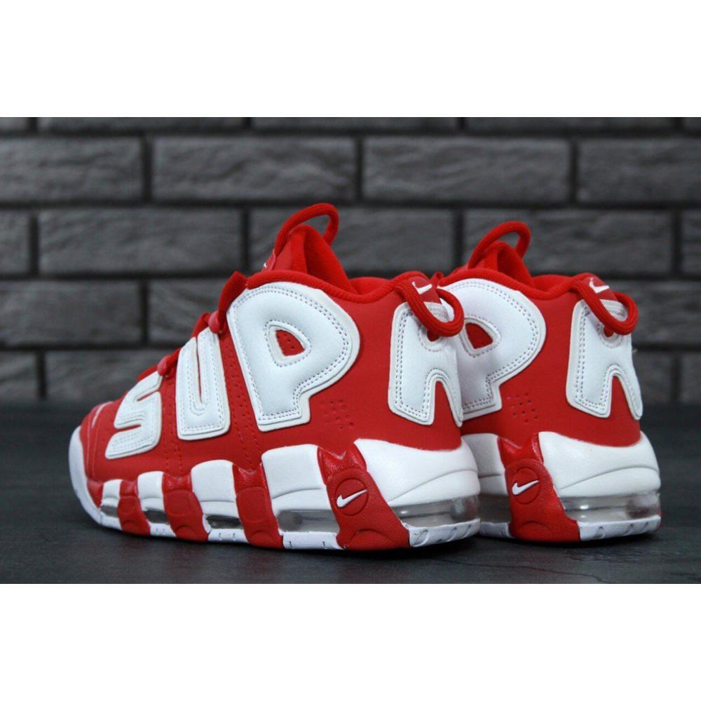 Демисезонные кроссовки мужские   - Мужские кроссовки Air More X Supreme красного цвета 1