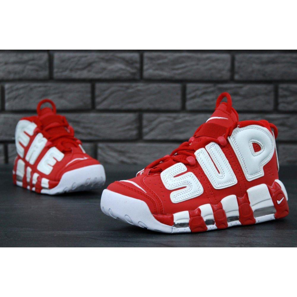 Демисезонные кроссовки мужские   - Мужские кроссовки Air More X Supreme красного цвета 4