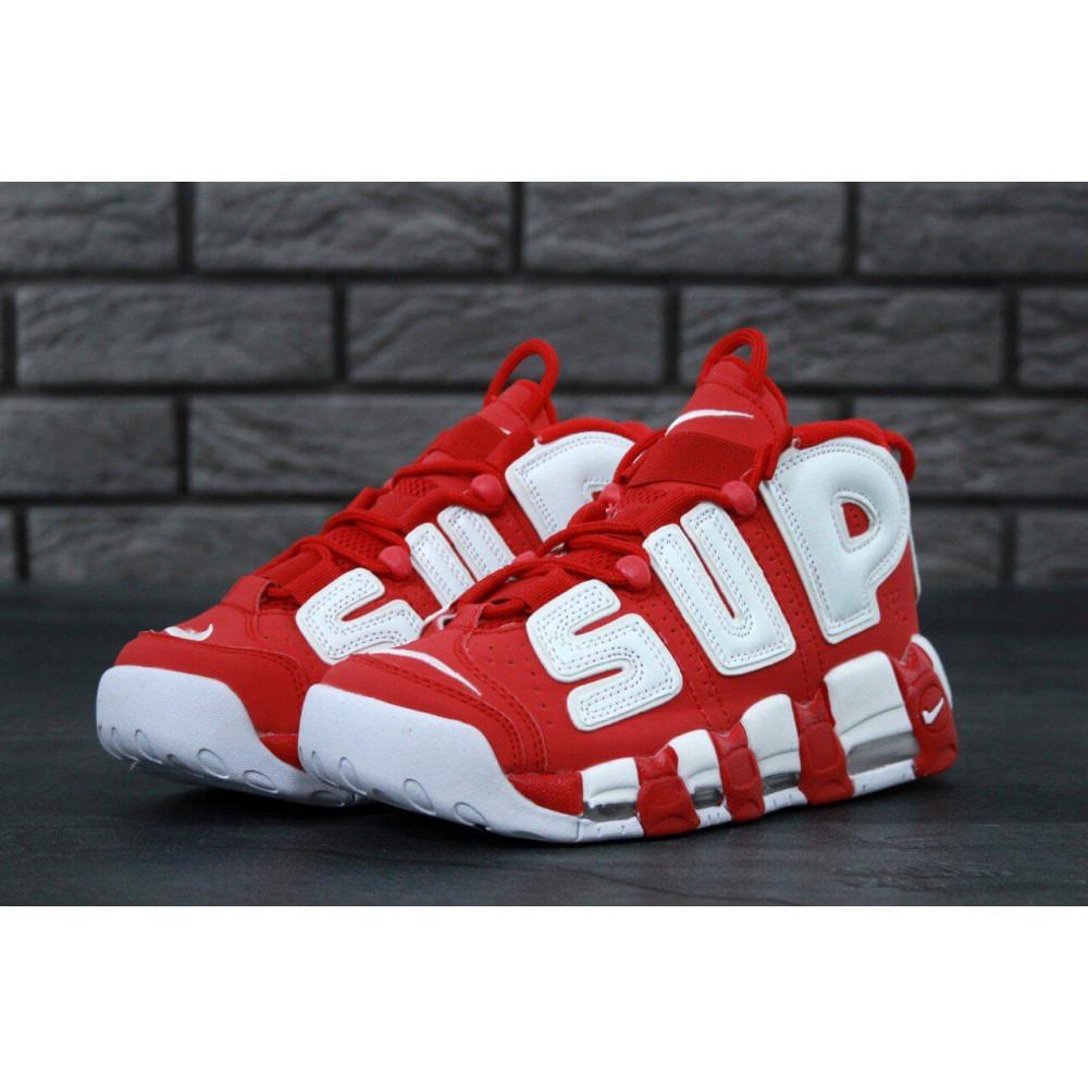 Демисезонные кроссовки мужские   - Мужские кроссовки Air More X Supreme красного цвета 2
