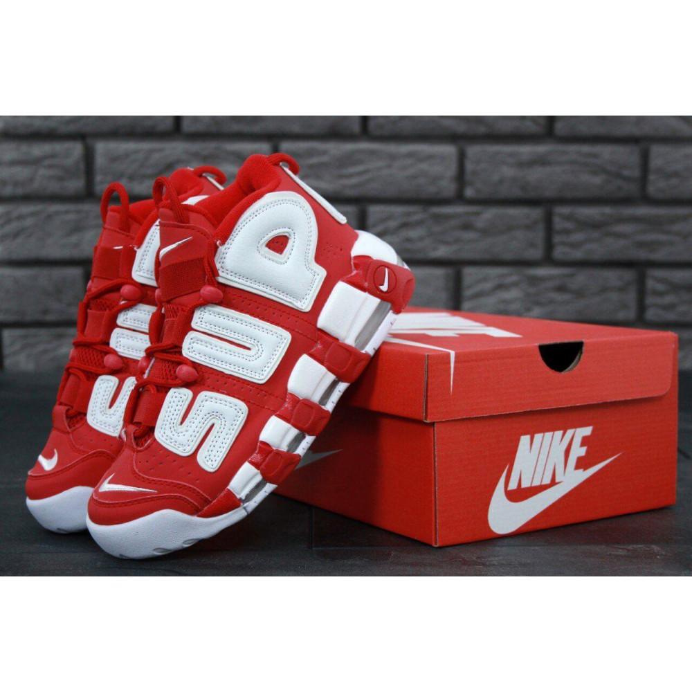 Демисезонные кроссовки мужские   - Мужские кроссовки Air More X Supreme красного цвета