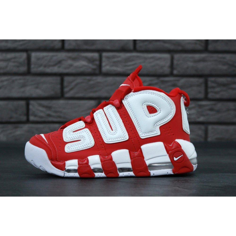 Демисезонные кроссовки мужские   - Мужские кроссовки Air More X Supreme красного цвета 3