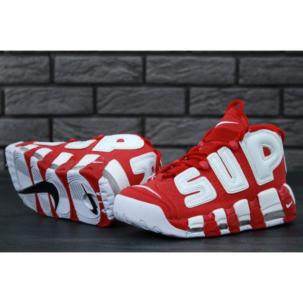 Демисезонные кроссовки мужские   - Мужские кроссовки Air More X Supreme красного цвета 5