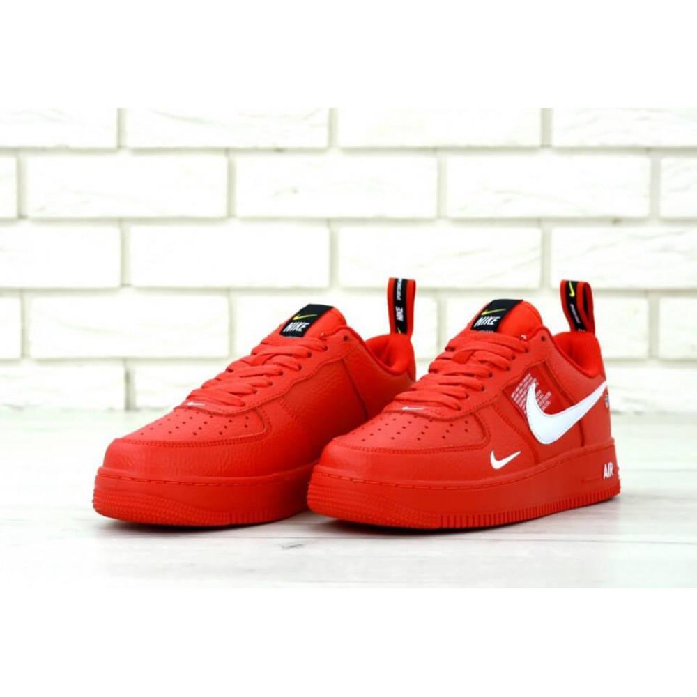 Демисезонные кроссовки мужские   - Мужские красные кроссовки Nike Air Force 1 Low Red 2