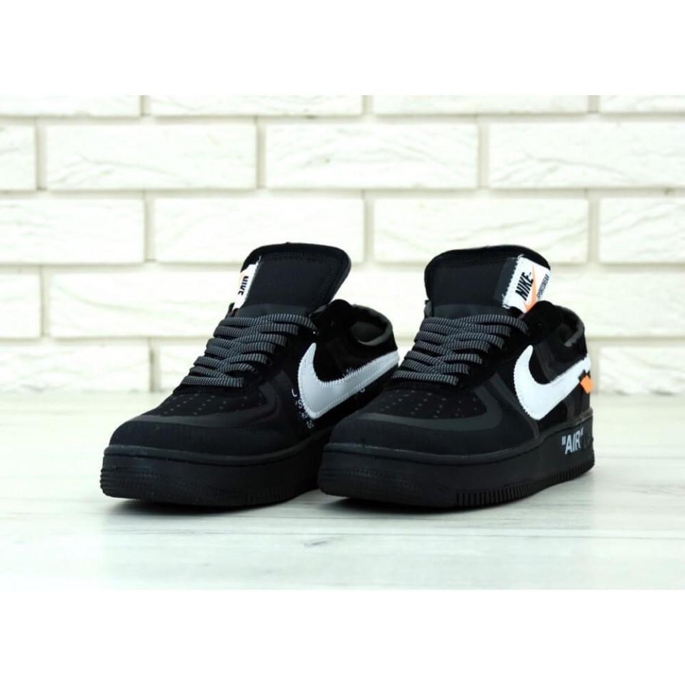 Классические кроссовки мужские - Мужские черные кроссовки Air Force Off White 2