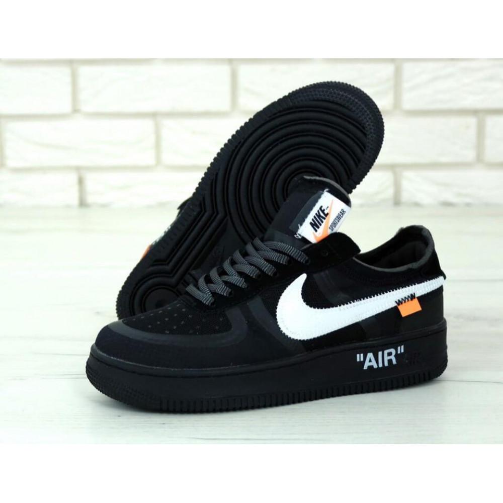 Классические кроссовки мужские - Мужские черные кроссовки Air Force Off White 1