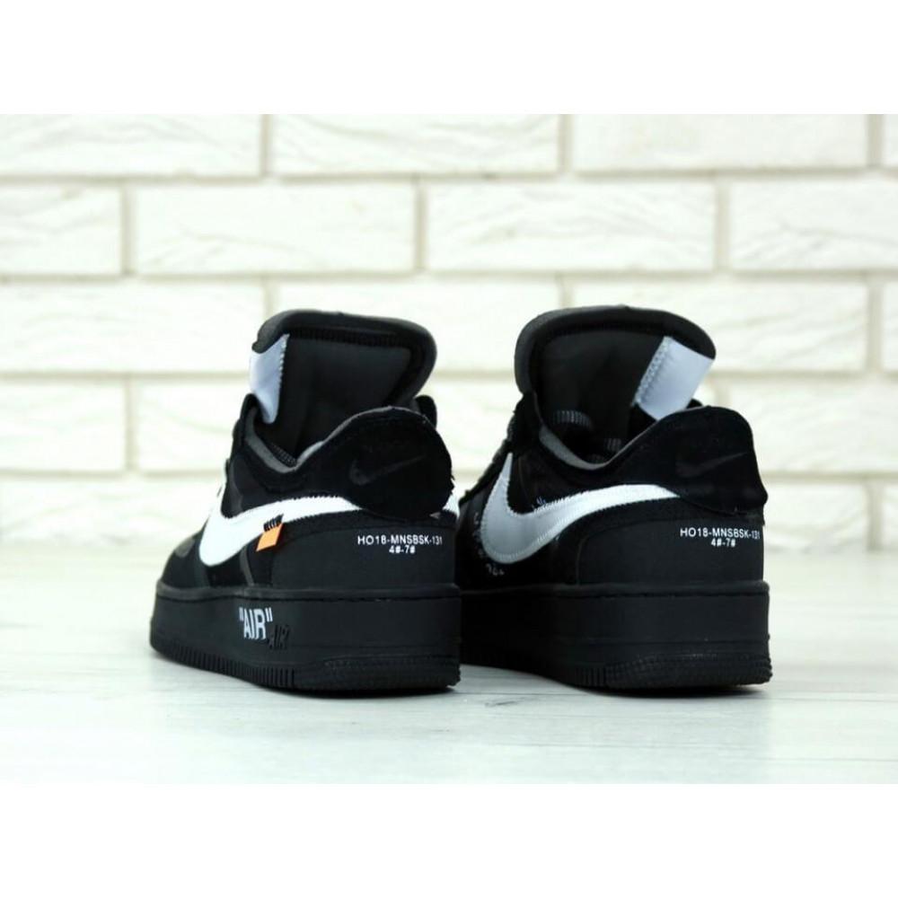 Классические кроссовки мужские - Мужские черные кроссовки Air Force Off White 3