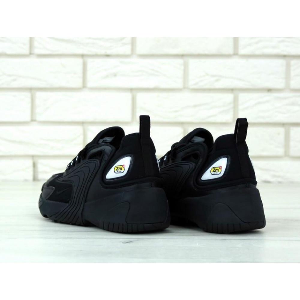 Демисезонные кроссовки мужские   - Черные мужские кроссовки Найк Зум 2К 2