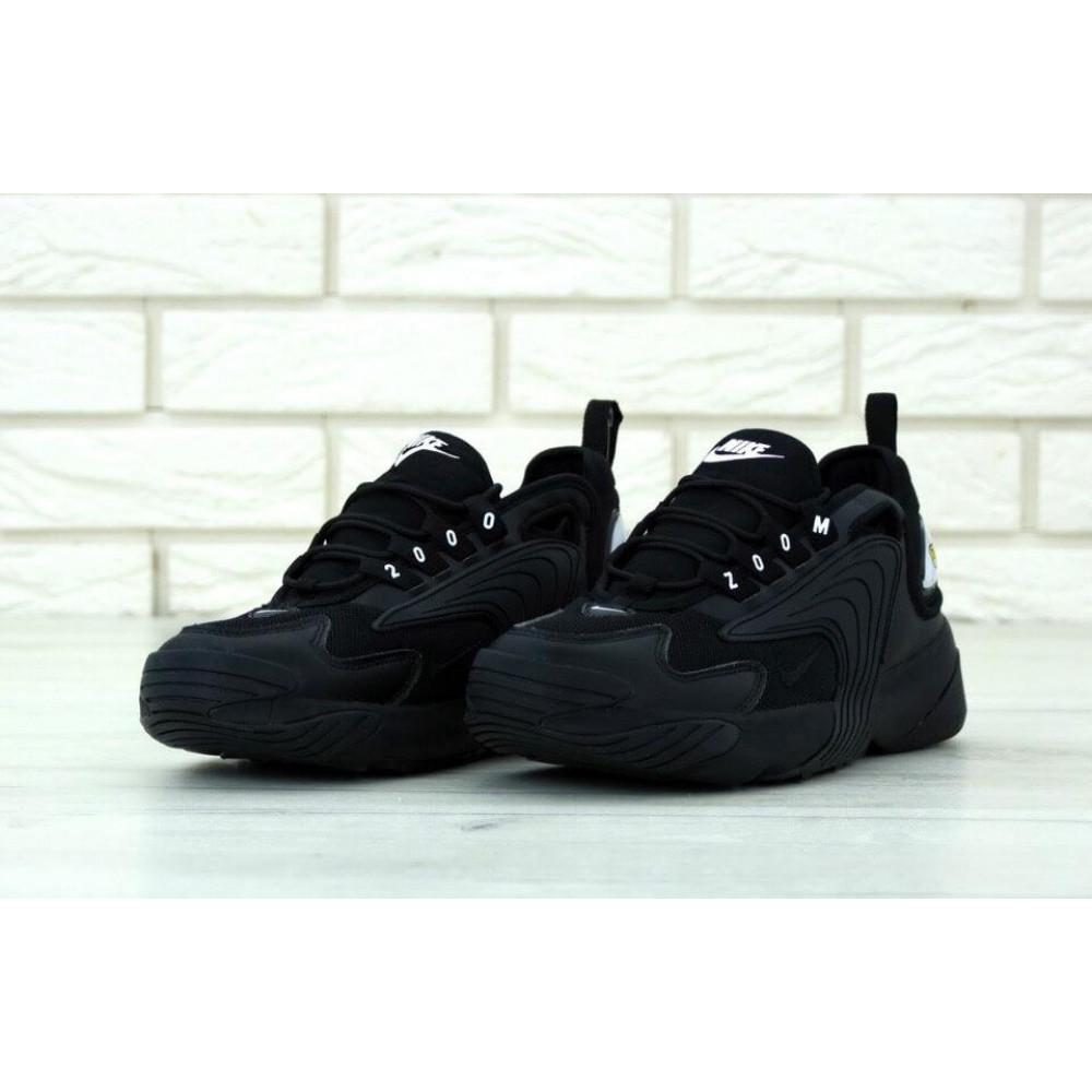 Демисезонные кроссовки мужские   - Черные мужские кроссовки Найк Зум 2К 1