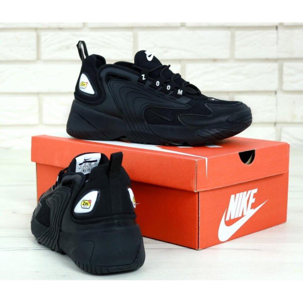 Демисезонные кроссовки мужские   - Черные мужские кроссовки Найк Зум 2К 3