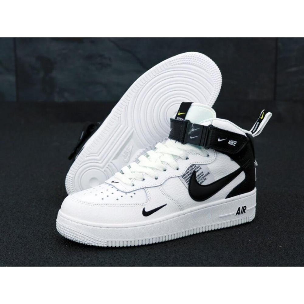 Демисезонные кроссовки мужские   - Мужские кроссовки Air Force 1 Mid TM White Black 1