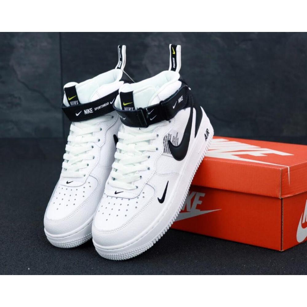 Демисезонные кроссовки мужские   - Мужские кроссовки Air Force 1 Mid TM White Black