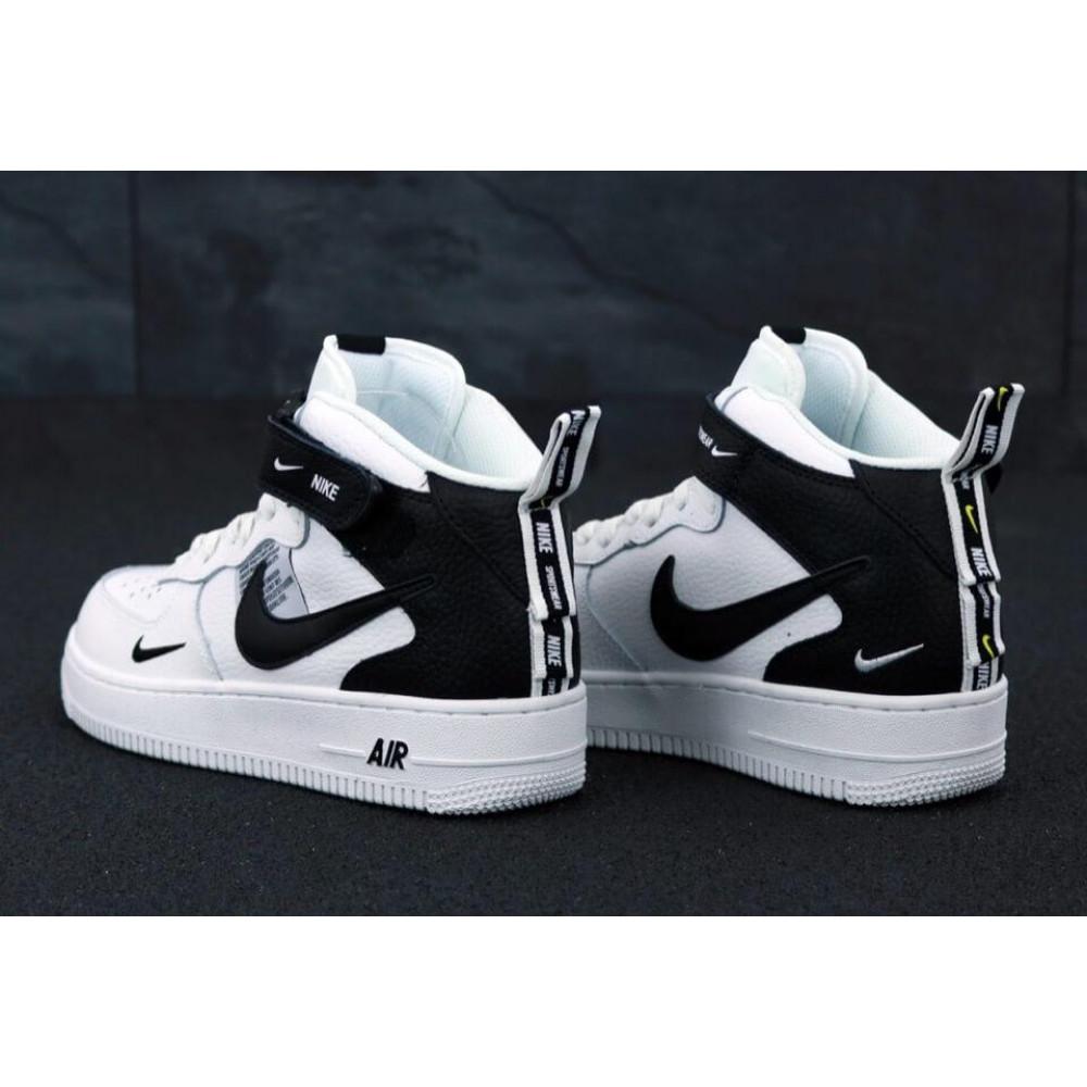 Демисезонные кроссовки мужские   - Мужские кроссовки Air Force 1 Mid TM White Black 4