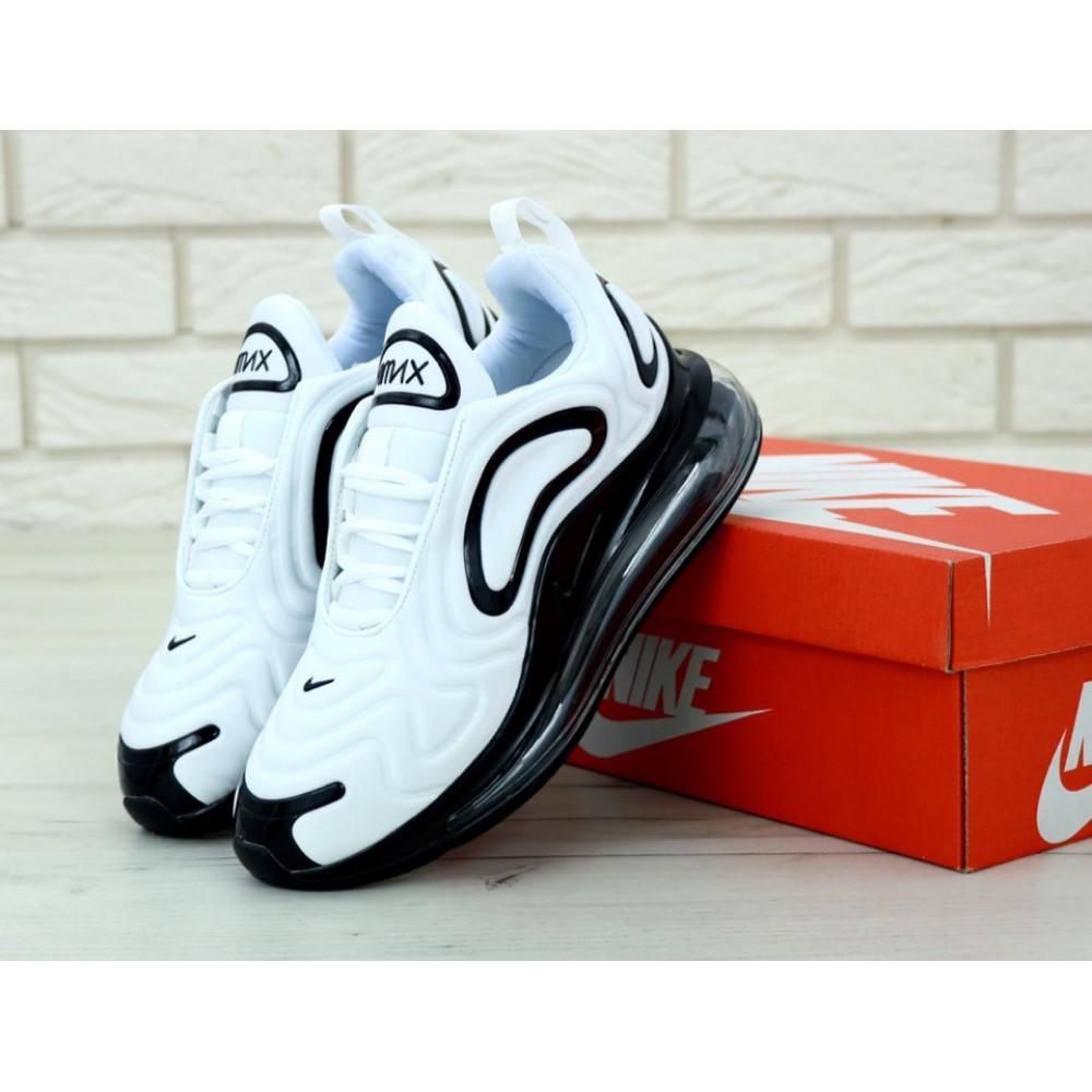 Демисезонные кроссовки мужские   - Мужские белые кроссовки Найк Аир Макс 720