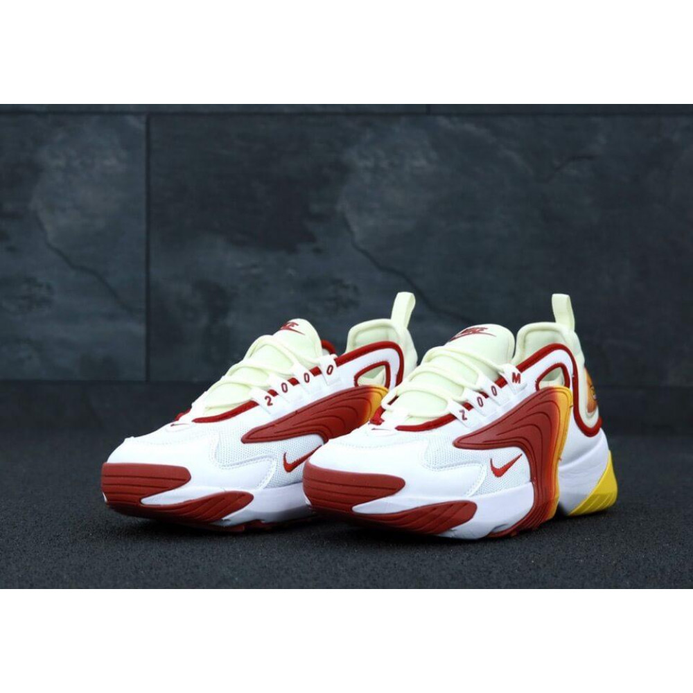 Демисезонные кроссовки мужские   - Мужские кроссовки Nike Zoom 2K белые с красным 2