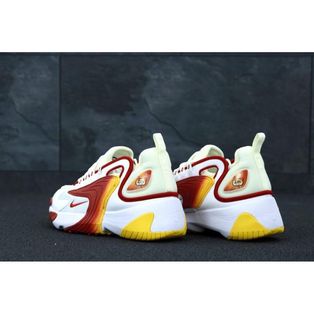 Демисезонные кроссовки мужские   - Мужские кроссовки Nike Zoom 2K белые с красным 1