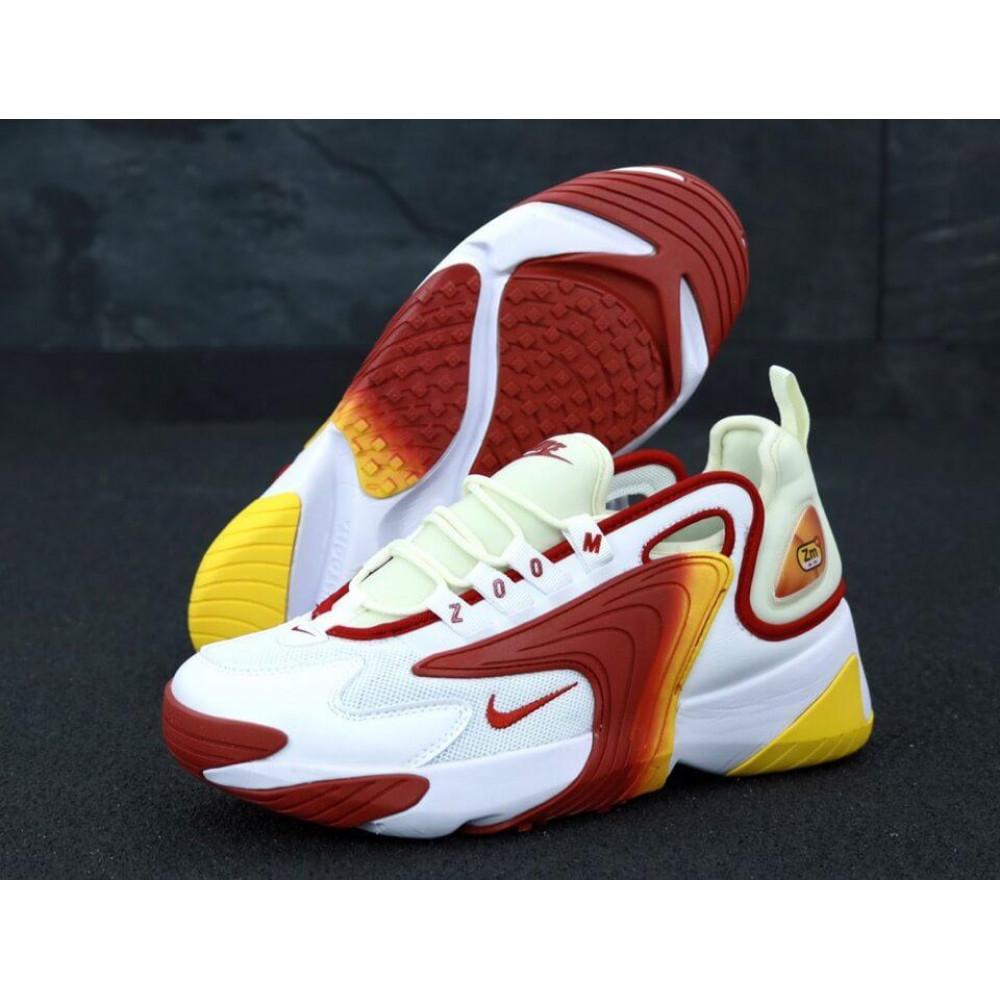 Демисезонные кроссовки мужские   - Мужские кроссовки Nike Zoom 2K белые с красным 4