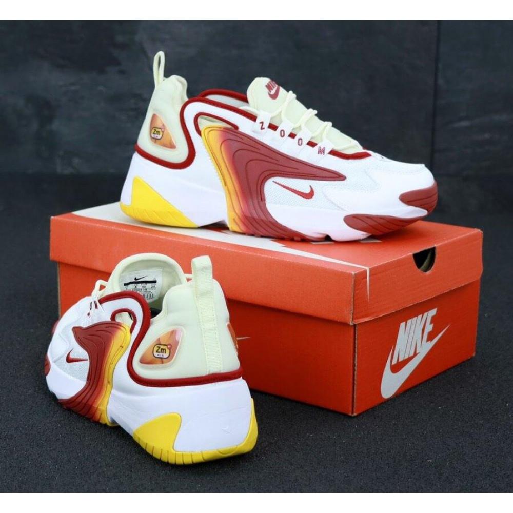 Демисезонные кроссовки мужские   - Мужские кроссовки Nike Zoom 2K белые с красным 3