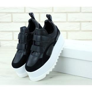 Женские кроссовки Stella Mccartney Eclypse Platform Sneakers в черном цвете