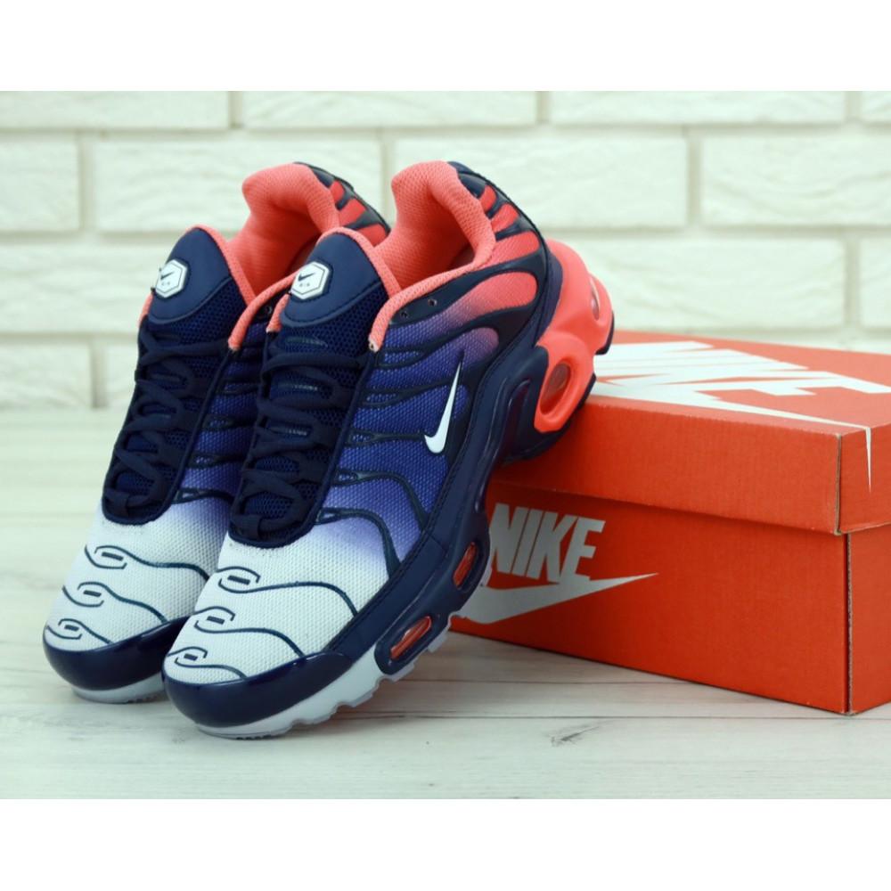 Демисезонные кроссовки мужские   - Мужские кроссовки Nike Air Max Tn Plus Navy Blue Red