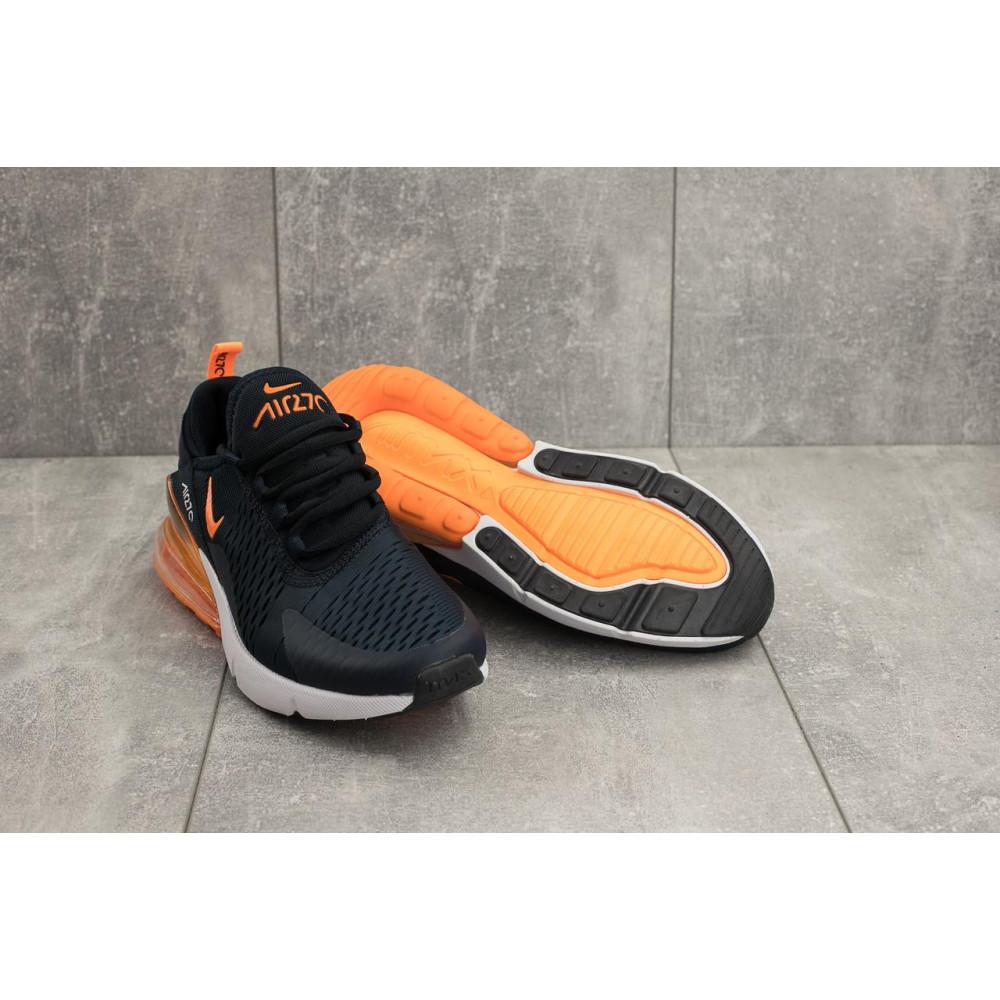 Демисезонные кроссовки мужские   - Мужские кроссовки текстильные весна/осень синие-оранжевые Classica G 5074 -4 4