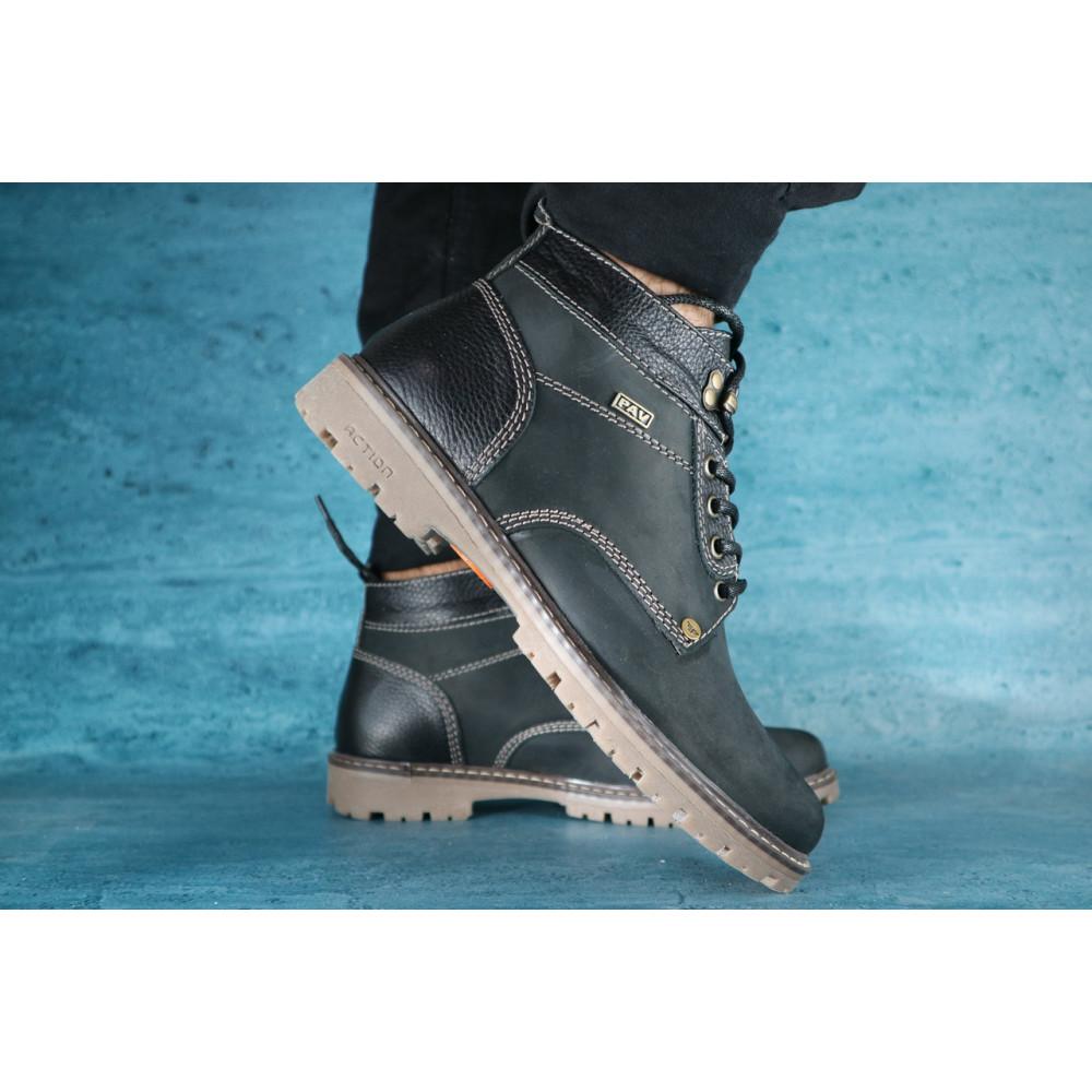 Мужские ботинки зимние - Мужские ботинки нубуковые зимние черные Pav 9665