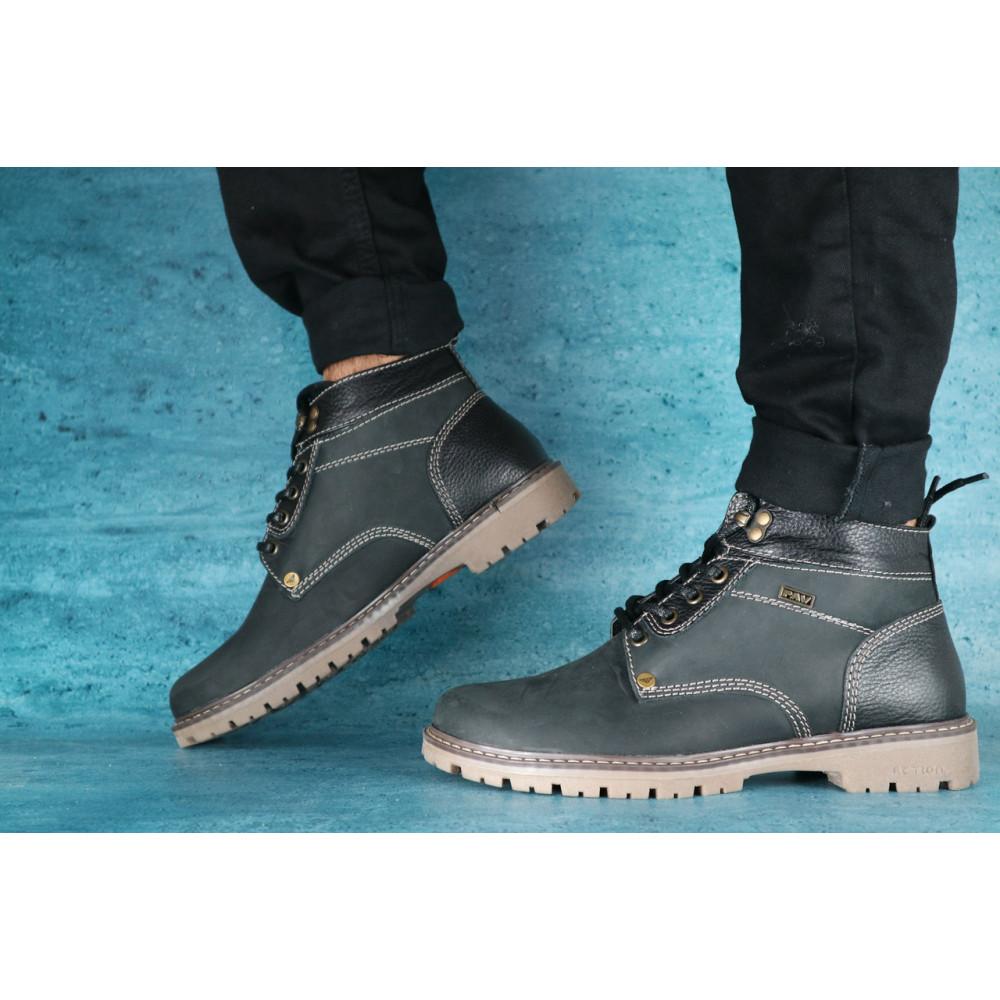 Мужские ботинки зимние - Мужские ботинки нубуковые зимние черные Pav 9665 3