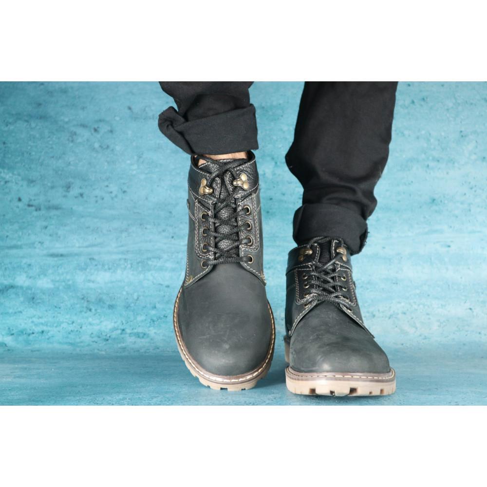 Мужские ботинки зимние - Мужские ботинки нубуковые зимние черные Pav 9665 2