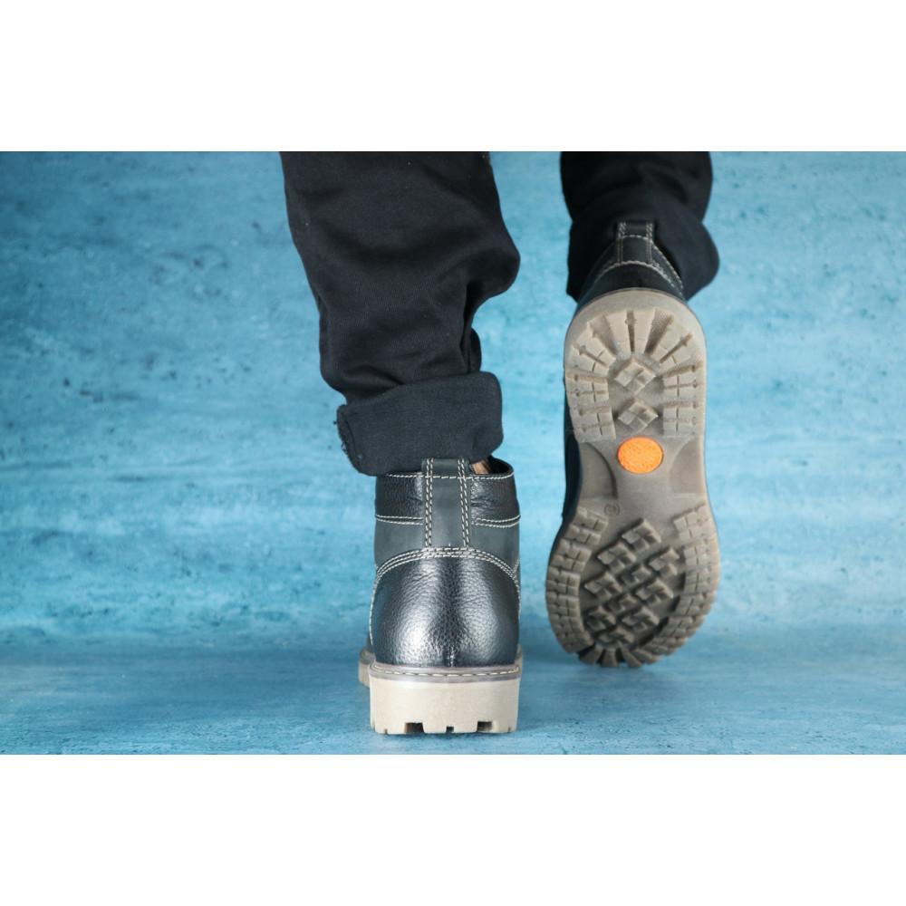 Мужские ботинки зимние - Мужские ботинки нубуковые зимние черные Pav 9665 1