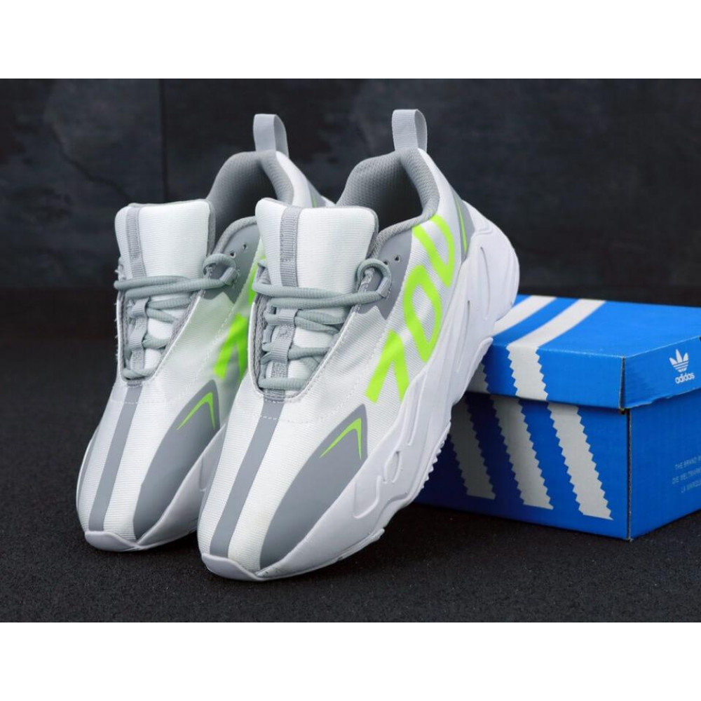 Демисезонные кроссовки мужские   - Мужские кроссовки Adidas Yeezy Boost 700 Grey Yellow