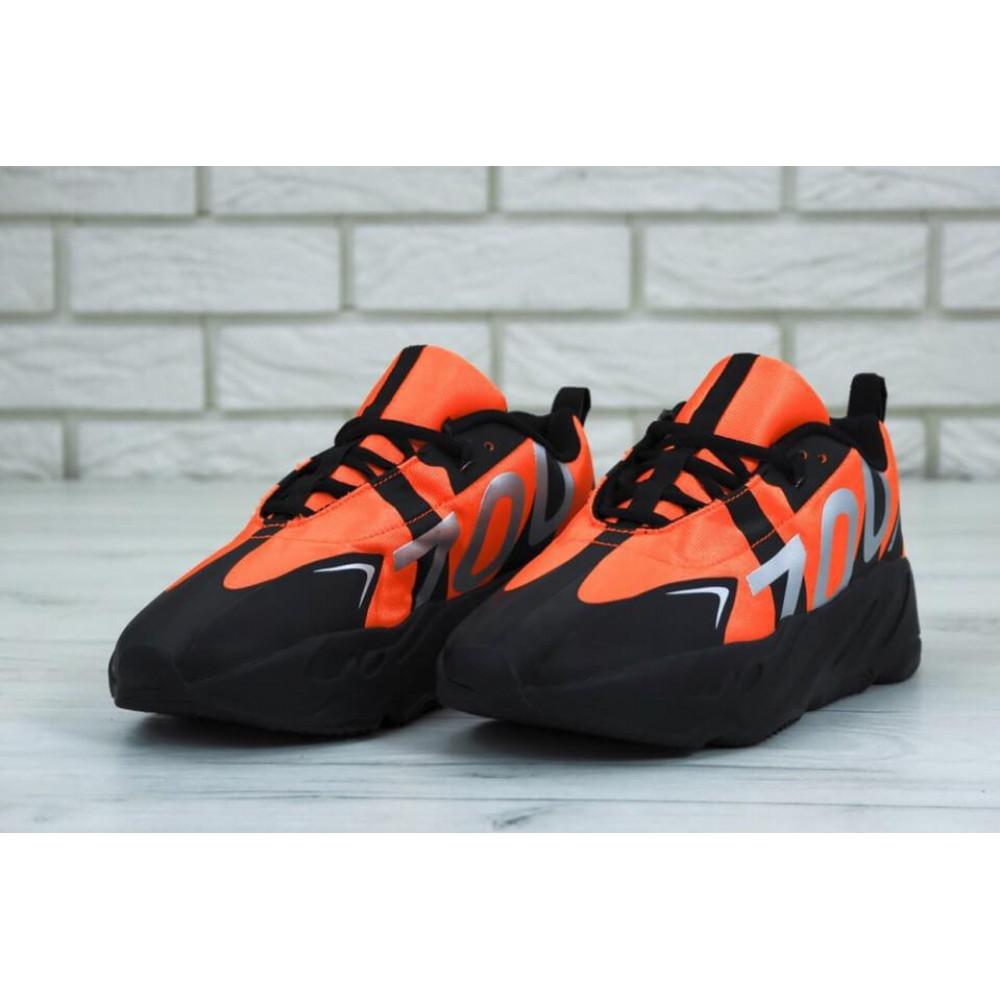 Беговые кроссовки мужские  - Мужские кроссовки Adidas Yeezy 700 Mauve черно-оранжевые 2