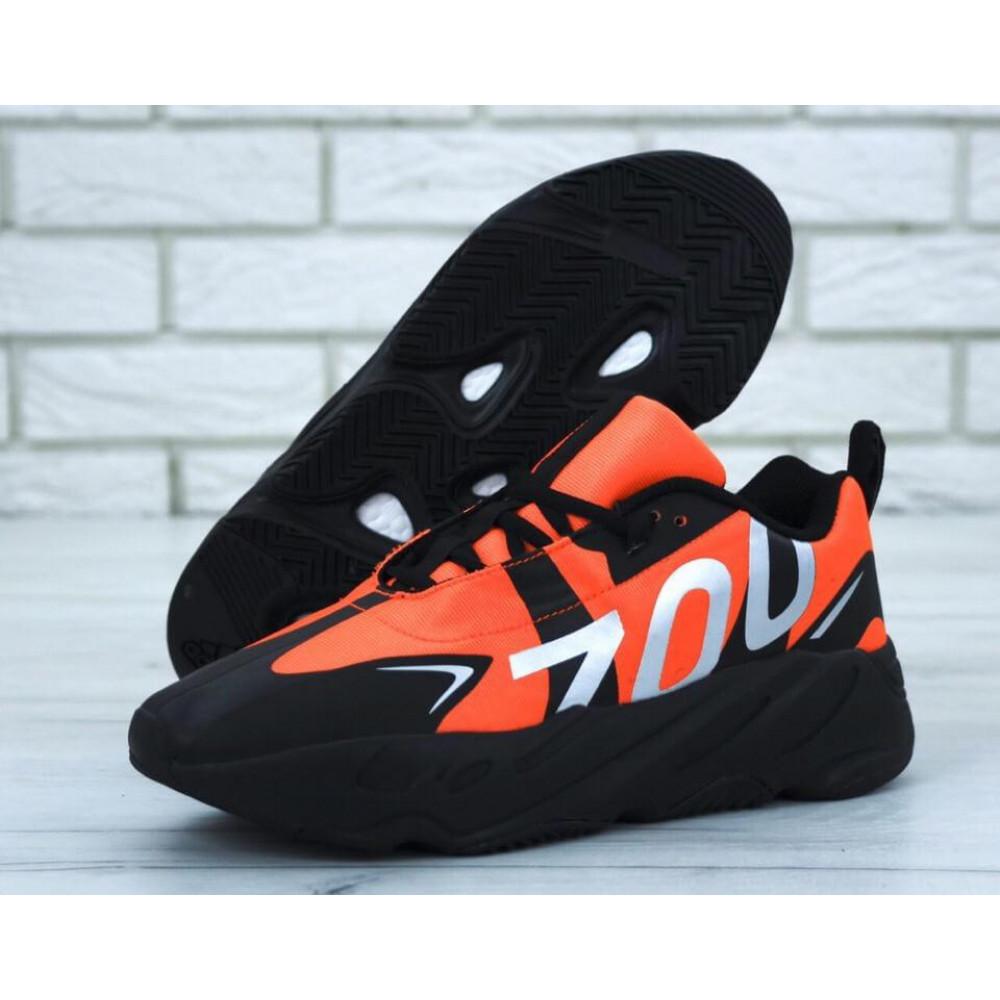 Беговые кроссовки мужские  - Мужские кроссовки Adidas Yeezy 700 Mauve черно-оранжевые
