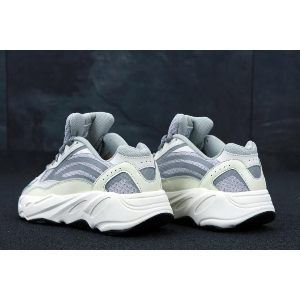 Демисезонные кроссовки мужские   - Мужские кроссовки Adidas Yeezy Boost 700 светло-серые 3