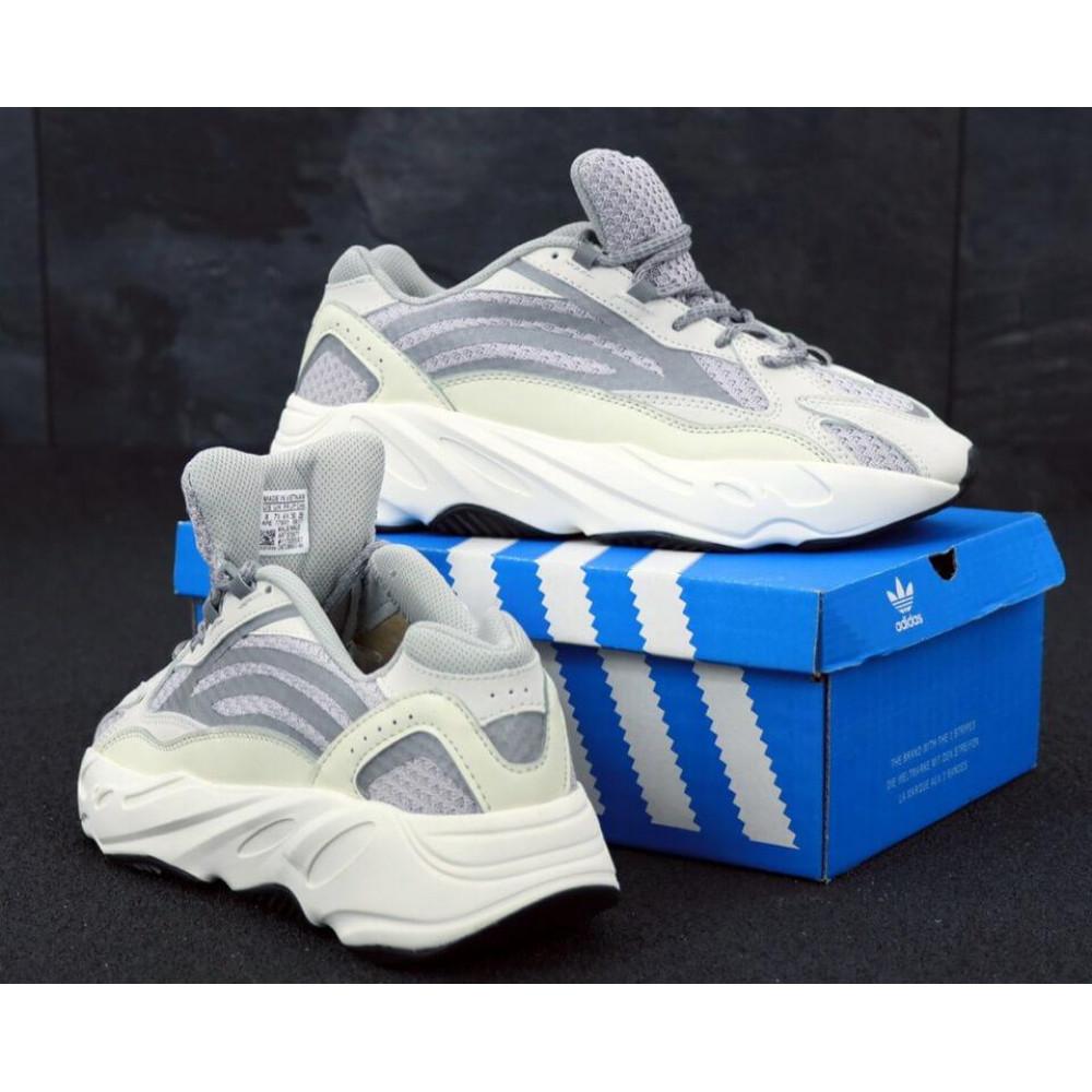 Демисезонные кроссовки мужские   - Мужские кроссовки Adidas Yeezy Boost 700 светло-серые 1
