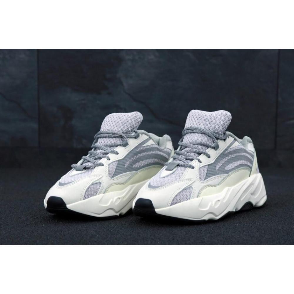Демисезонные кроссовки мужские   - Мужские кроссовки Adidas Yeezy Boost 700 светло-серые 4