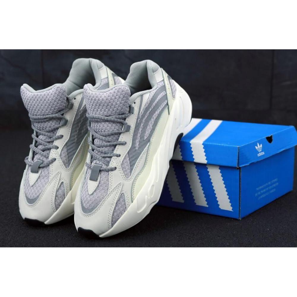 Демисезонные кроссовки мужские   - Мужские кроссовки Adidas Yeezy Boost 700 светло-серые