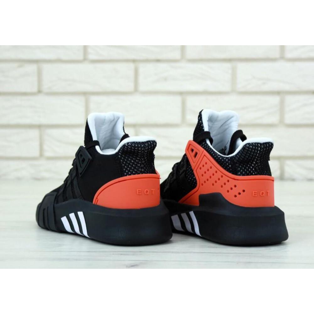 Беговые кроссовки мужские  - Мужские кроссовки Adidas EQT ADV Black Red 4