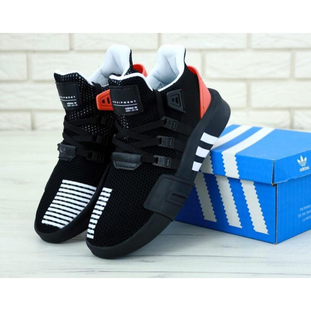 Беговые кроссовки мужские  - Мужские кроссовки Adidas EQT ADV Black Red