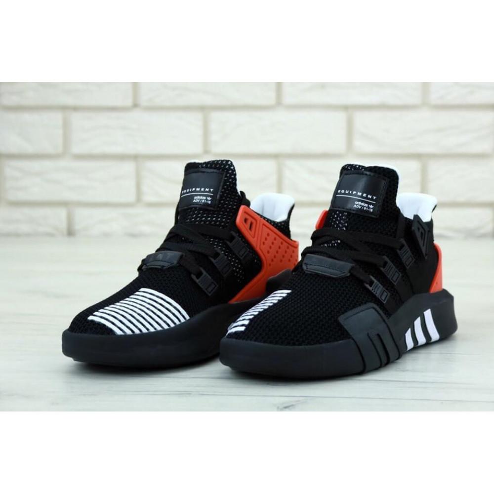 Беговые кроссовки мужские  - Мужские кроссовки Adidas EQT ADV Black Red 2