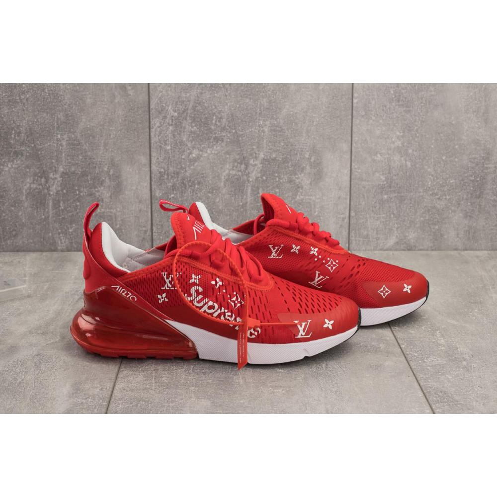 Демисезонные кроссовки мужские   - Мужские кроссовки текстильные весна/осень красные Aoka Supr A 270 -5 3