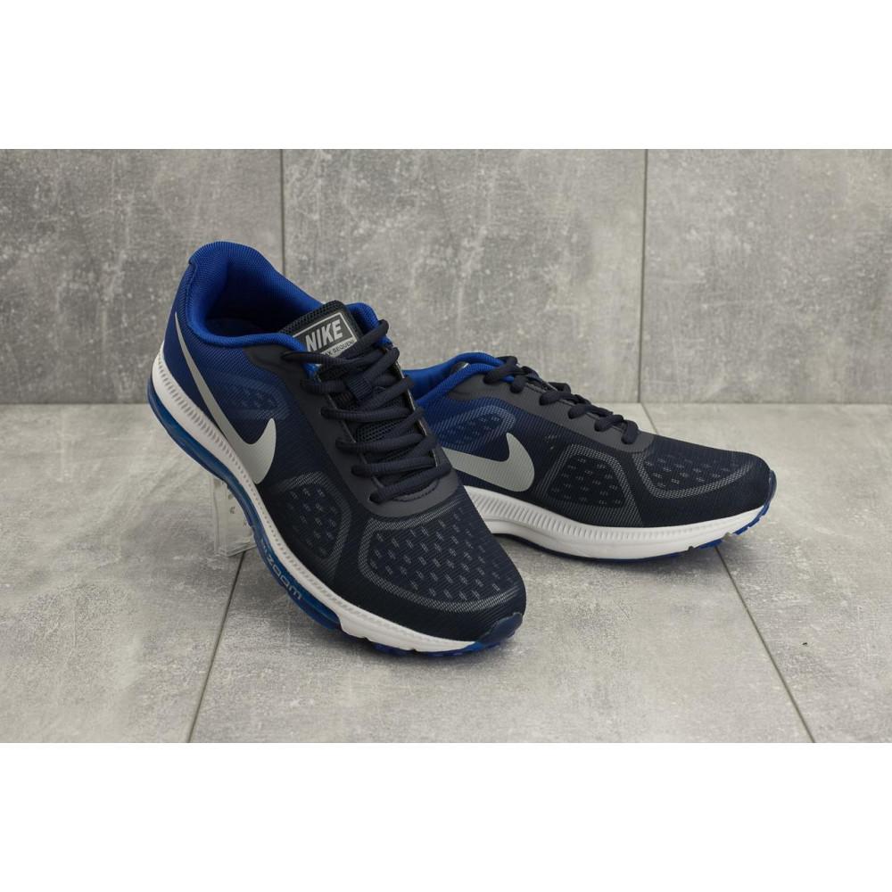 Демисезонные кроссовки мужские   - Мужские кроссовки текстильные весна/осень синие Aoka Zoom A 002 -13