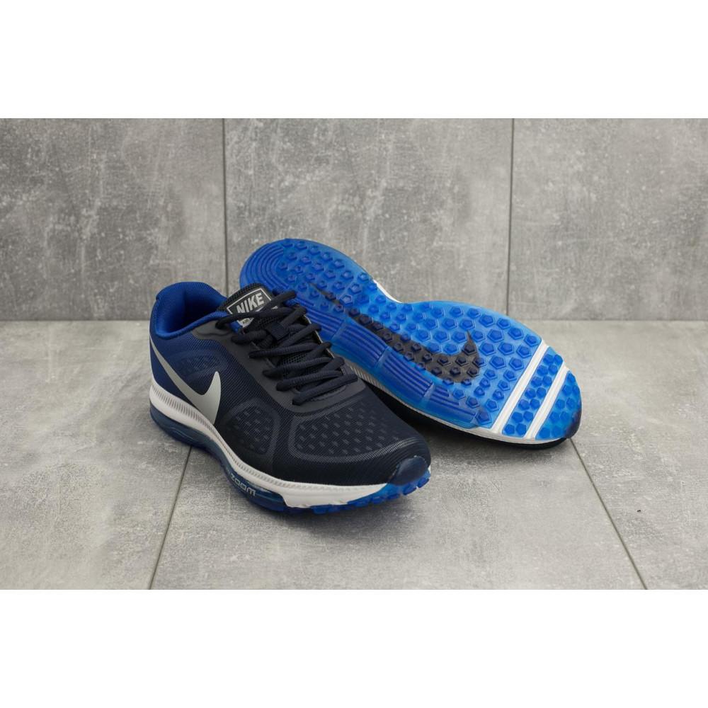 Демисезонные кроссовки мужские   - Мужские кроссовки текстильные весна/осень синие Aoka Zoom A 002 -13 4