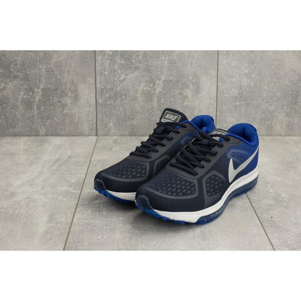 Демисезонные кроссовки мужские   - Мужские кроссовки текстильные весна/осень синие Aoka Zoom A 002 -13 1